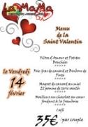 Soirée Saint Valentin La Mama Anould 88650 Anould du 14-02-2014 à 17:00 au 14-02-2014 à 20:00