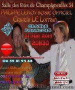 Show sosies Claude François à Champigneulles 54250 Champigneulles du 31-05-2014 à 20:30 au 31-05-2014 à 22:30
