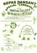 Soirée Dansante Carnaval à la Petite Raon 88210 La Petite-Raon du 08-03-2014 à 18:00 au 09-03-2014 à 00:00