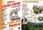 Fête de la traction animale à Mandray 88650 Mandray du 06-07-2014 à 10:00 au 06-07-2014 à 18:00