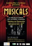 Spectacle Musicals à Thionville 57100 Thionville du 07-02-2015 à 18:30 au 08-02-2015 à 16:35