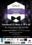 Soirée de Gala Caritative au Domaine de Raville 57530 Raville du 27-03-2015 à 17:30 au 27-03-2015 à 21:50