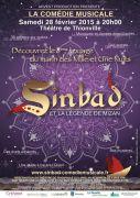 Sinbad et la Légende de Mizan à Thionville 57100 Thionville du 28-02-2015 à 18:00 au 28-02-2015 à 20:30
