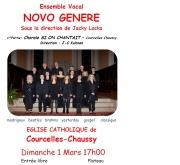 Concert NOVO GENERE à Courcelles-Chaussy 57530 Courcelles-Chaussy du 01-03-2015 à 15:00 au 01-03-2015 à 17:00