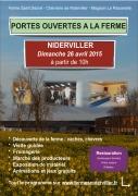 Portes Ouvertes Ferme de Niderviller 57565 Niderviller du 25-04-2015 à 17:00 au 26-04-2015 à 17:00