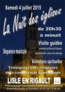Nuit des Eglises à Lisle-en-Rigault 55000 Lisle-en-Rigault du 04-07-2015 à 18:30 au 04-07-2015 à 22:00