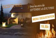 Menu Dégustation Auberge Liezey près de Gerardmer 88400 Liézey du 01-09-2015 à 17:00 au 31-10-2015 à 21:00