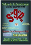 Salon Généalogie et Patrimoine à Saint-Léonard 88650 Saint-Léonard du 24-10-2015 à 12:00 au 25-10-2015 à 16:00