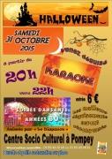 Karaoké Soirée Dansante Halloween Pompey 54340 Pompey du 31-10-2015 à 18:00 au 31-10-2015 à 23:00