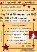 Marché de Noël Avent St Maurice-sur-Moselle 88560 Saint-Maurice-sur-Moselle du 28-11-2015 à 08:00 au 29-11-2015 à 16:00