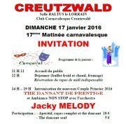 Repas et Thé Dansant à Creutzwald 57150 Creutzwald du 17-01-2016 à 10:00 au 17-01-2016 à 17:00