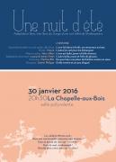 Spectacle Chapelle-aux-Bois Nuit d'été Shakespeare 88240 La Chapelle-aux-Bois du 30-01-2016 à 18:30 au 30-01-2016 à 19:50