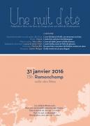 Spectacle Ramonchamp Nuit d'été Shakespeare 88160 Ramonchamp du 31-01-2016 à 13:00 au 31-01-2016 à 14:20