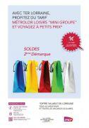 TER Métrolor Loisirs Mini Groupe à 1€ Meurthe-et-Moselle, Meuse, Vosges, Moselle du 01-01-2016 à 06:00 au 16-02-2016 à 21:59