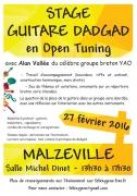 Stage Guitare Dadgad Yao Folk à Malzéville 54220 Malzéville du 27-02-2016 à 11:30 au 27-02-2016 à 15:30