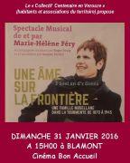 Spectacle Musical Famille Lorraine et Guerres à Blamont 54450 Blâmont du 31-01-2016 à 13:00 au 31-01-2016 à 15:00