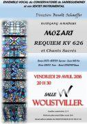 Concert Musique Classique à Woustviller 57915 Woustviller du 29-04-2016 à 18:30 au 29-04-2016 à 20:00