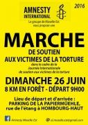 Marche de Soutien à Hombourg-Haut Victimes Torture 57470 Hombourg-Haut du 26-06-2016 à 07:00 au 26-06-2016 à 09:00