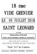 Vide-Grenier à Saint-Léonard 88650 Saint-Léonard du 03-07-2016 à 03:00 au 03-07-2016 à 17:30