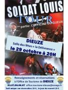 Concert Soldat Louis à Dieuze 57260 Dieuze du 29-10-2016 à 18:00 au 29-10-2016 à 21:30