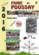 Foire de Poussay 2016 88500 Poussay du 22-10-2016 à 04:00 au 23-10-2016 à 18:00