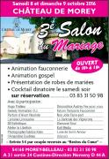 Salon du Mariage au Château de Morey 54610 Belleau du 08-10-2016 à 08:00 au 09-10-2016 à 17:00
