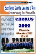Concert Chorus 2000 à Domrémy  88630 Domrémy-la-Pucelle du 09-10-2016 à 13:30 au 09-10-2016 à 15:00