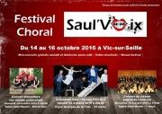 Festival de Chant Choral Saul'Voix à Vic-sur-Seille 57630 Vic-sur-Seille du 14-10-2016 à 16:15 au 16-10-2016 à 16:30