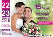15ème Salon Régional du Mariage à Verdun  55100 Verdun du 22-10-2016 à 08:00 au 23-10-2016 à 16:00