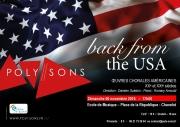 Concert Back From The USA Poly-Sons à Chavelot 88150 Chavelot du 06-11-2016 à 15:00 au 06-11-2016 à 16:30