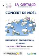 Concert de Noël Cantalud à Ludres 54710 Ludres du 11-12-2016 à 13:00 au 11-12-2016 à 14:00