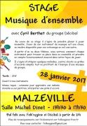 Stage de Musique d'Ensemble à Malzéville 54220 Malzéville du 28-01-2017 à 11:30 au 28-01-2017 à 15:30