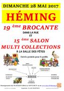 Brocante et Salon des Collectionneurs à Heming 57830 Héming du 28-05-2017 à 05:00 au 28-05-2017 à 18:00