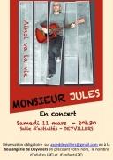 Concert Monsieur Jules à Deyvillers 88000 Deyvillers du 11-03-2017 à 19:30 au 11-03-2017 à 22:00