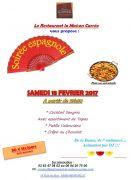 Soirée Espagnole Maison Carrée Nancy sud 54850 Méréville du 18-02-2017 à 18:30 au 18-02-2017 à 22:00