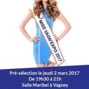 Pré-sélections de Miss Vagn'expo 2017 à Vagney 88120 Vagney du 02-03-2017 à 18:30 au 02-03-2017 à 20:00
