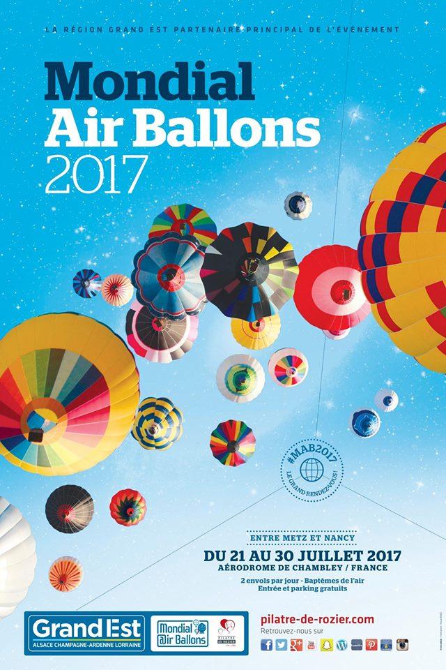 Affiche Mondial Air Ballons Chambley Lorraine Grand-Est 2017