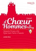Concert Chœur d'Hommes de Nancy à Maxéville 54320 Maxéville du 19-03-2017 à 15:00 au 19-03-2017 à 17:00