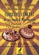 Soirée Couscous et Concert à Rochesson 88120 Rochesson du 22-04-2017 à 18:00 au 23-04-2017 à 01:00