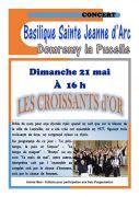 Concert les Croissants d'Or à Domrémy 88630 Domrémy-la-Pucelle du 21-05-2017 à 16:00 au 21-05-2017 à 17:30