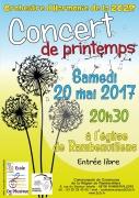 Concert de Printemps à Rambervillers Ecole de Musique 88700 Rambervillers du 20-05-2017 à 20:30 au 20-05-2017 à 22:30