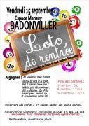 Loto de Rentrée à Badonviller 54540 Badonviller du 15-09-2017 à 19:00 au 15-09-2017 à 23:00