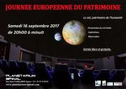 Journée du Patrimoine Planétarium Epinal 88000 Epinal du 16-09-2017 à 20:00 au 16-09-2017 à 23:30