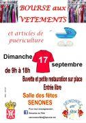 Bourse Vêtements et Puériculture à Senones 88210 Senones du 17-09-2017 à 09:00 au 17-09-2017 à 18:00