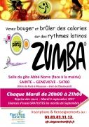 Cours de ZUMBA à Sainte-Geneviève 54700 Sainte-Geneviève du 12-09-2017 à 20:00 au 30-06-2018 à 21:00