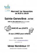 Marché aux Jouets à Sainte-Geneviève 54700 Sainte-Geneviève du 01-11-2017 à 09:30 au 01-11-2017 à 16:30