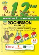12ème Marche Populaire des Montagnes à Rochesson 88120 Rochesson du 01-10-2017 à 07:00 au 01-10-2017 à 14:00