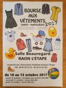 Bourse aux Vêtements à Raon-L'Etape 88110 Raon-l'Étape du 11-10-2017 à 08:00 au 13-10-2017 à 18:00