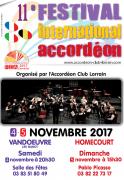 Festival International Accordéon Lorraine FIA 2017 Vandoeuvre-lès-Nancy, Homécourt du 04-11-2017 à 20:30 au 05-11-2017 à 15:30