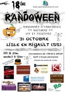 Randoween Halloween à Lisle-en-Rigault  55000 Lisle-en-Rigault du 31-10-2017 à 19:30 au 31-10-2017 à 23:00